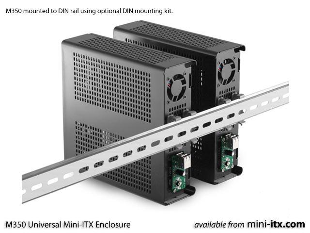 M350 Universal Mini-ITX enclosure by Mini-Box Black