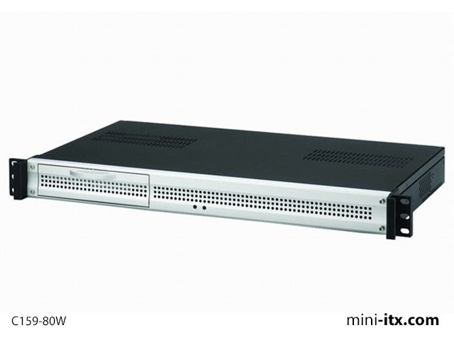 Mini Itx Com Travla C159 1u Rackmount Case 80w Case