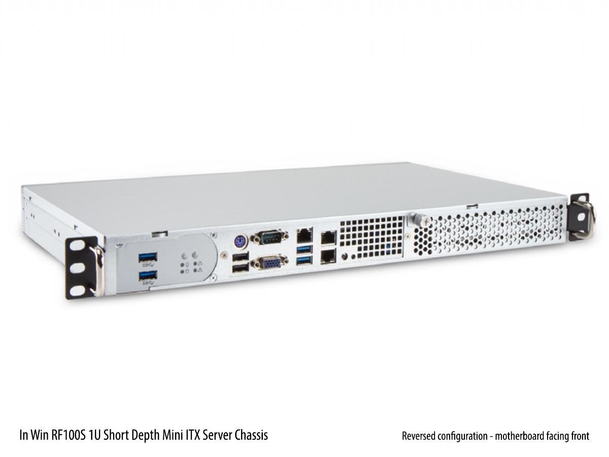 Mini Itx Com In Win Rf100s 1u Short Depth Mini Itx Server Chassis 265w Case