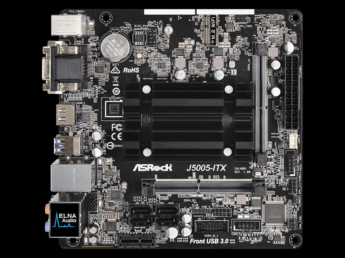 Asrock J5005 Itx Quad Core Pentium Silver Mini Board With Pci E X1 Gigabit Lan Hdmi Dvi D Vga And 4x Sata 6gb S