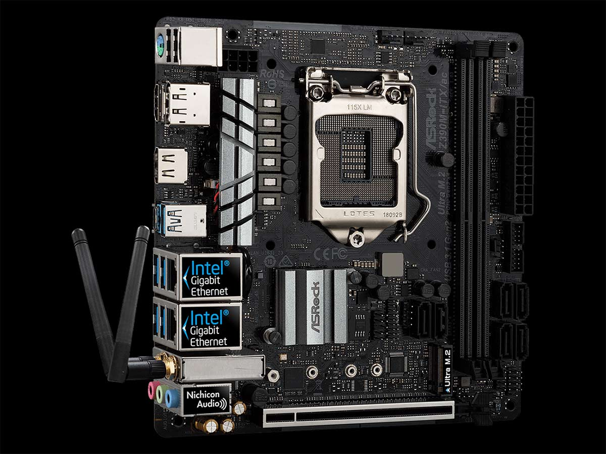 mini-itx com: ASRock Z390M-ITX/ac motherboard